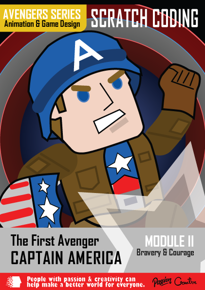 Dream World Robotics Scratch Coding Captain America - Courage